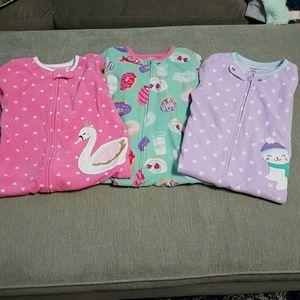 Set of 3 Footless Pajamas